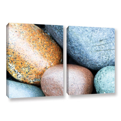 Brushstone Beach Rocks 2-pc. Gallery Wrapped Canvas Wall Art