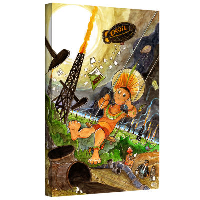 Brushstone Big Oil 1 Gallery Wrapped Canvas Wall Art