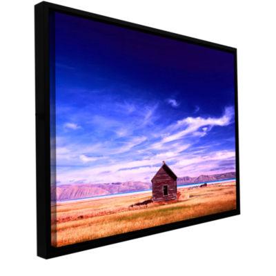 Brushstone Bear Lake Autumn Gallery Wrapped Floater-Framed Canvas Wall Art