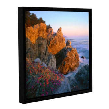 Brushstone Big Sur Sunset Gallery Wrapped Floater-Framed Canvas Wall Art