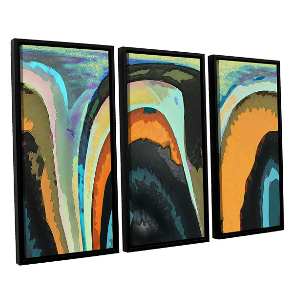 Brushstone Bigan 3-pc. Floater Framed Canvas WallArt
