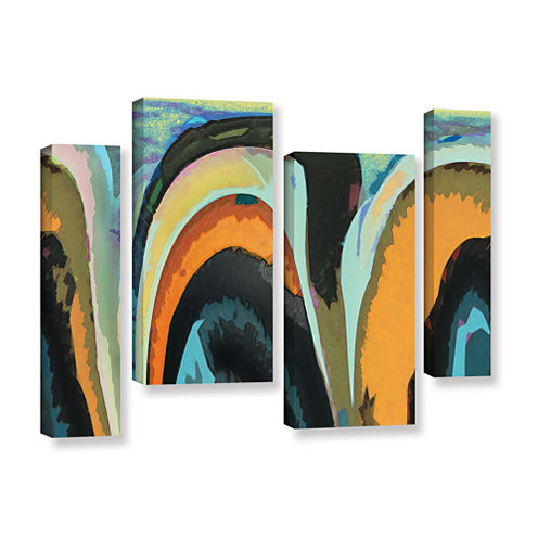 Brushstone Bigan 4-pc. Gallery Wrapped Staggered Canvas Wall Art