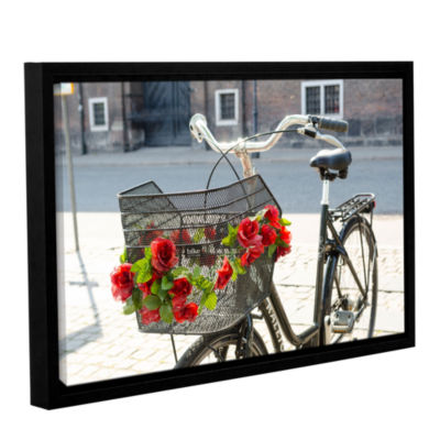 Brushstone Bike Attitude Gallery Wrapped Floater-Framed Canvas Wall Art