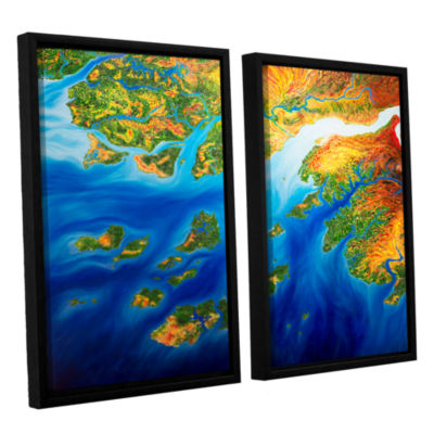 Brushstone Bilagos 2-pc. Floater Framed Canvas Wall Art