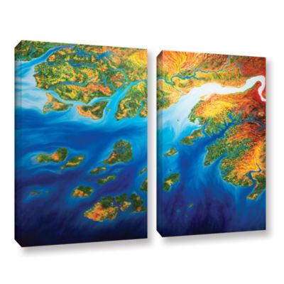 Brushstone Bilagos 2-pc. Gallery Wrapped Canvas Wall Art