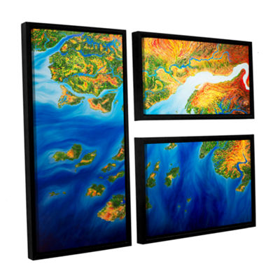 Brushstone Bilagos 3-pc. Flag Floater Framed Canvas Wall Art
