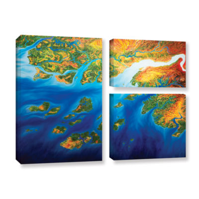 Brushstone Bilagos 3-pc. Flag Gallery Wrapped Canvas Wall Art
