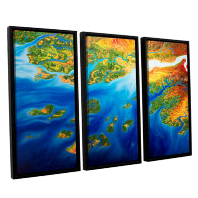 Brushstone Bilagos 3-pc. Floater Framed Canvas Wall Art
