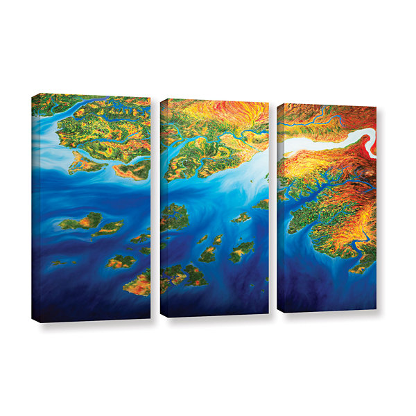 Brushstone Bilagos 3-pc. Gallery Wrapped Canvas Wall Art