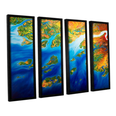 Brushstone Bilagos 4-pc. Floater Framed Canvas Wall Art