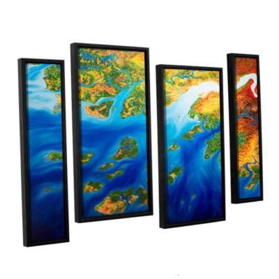 Brushstone Bilagos 4-pc. Floater Framed StaggeredCanvas Wall Art