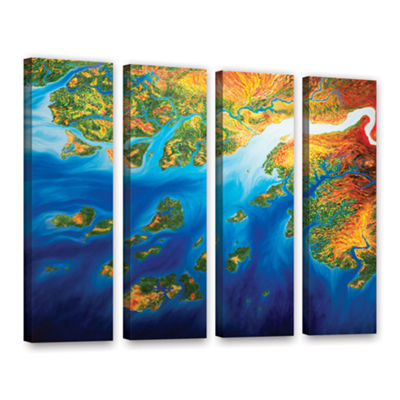 Brushstone Bilagos 4-pc. Gallery Wrapped Canvas Wall Art