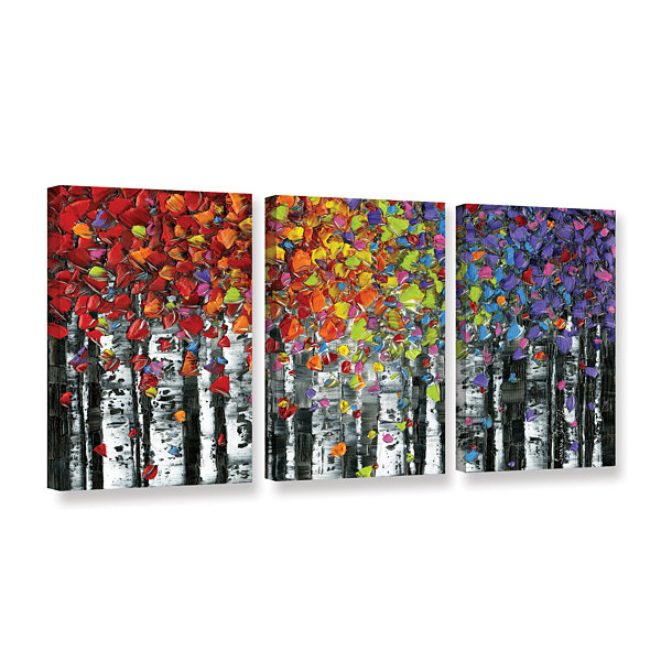 Brushstone Birch 3-pc. Gallery Wrapped Canvas WallArt