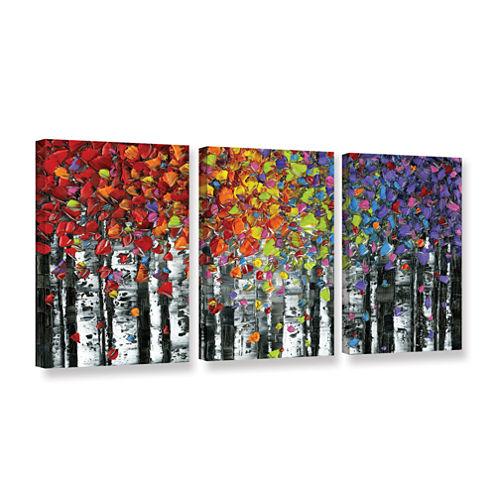 Brushstone Birch 3-pc. Gallery Wrapped Canvas WallArt