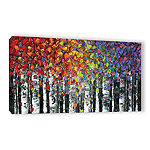 Brushstone Birch Gallery Wrapped Canvas Wall Art