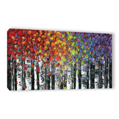 Brushstone Birch Gallery Wrapped Canvas Wall Art