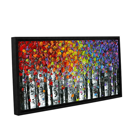 Brushstone Birch Gallery Wrapped Floater-Framed Canvas Wall Art