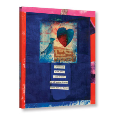 Brushstone Bird Heart Love Gallery Wrapped CanvasWall Art