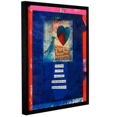 Brushstone Bird Heart Love Gallery Wrapped Floater-Framed Canvas Wall Art