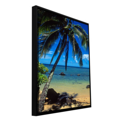 Brushstone Beautiful Anini Beach Gallery Wrapped Floater-Framed Canvas Wall Art