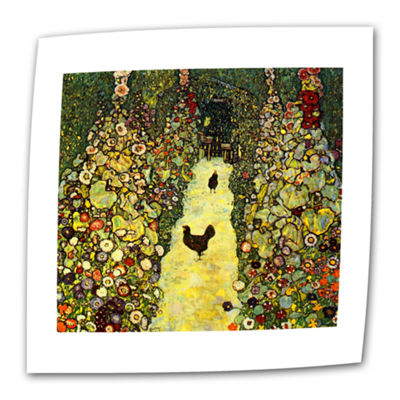 Brushstone Avenue in the Park Canvas Wall Art