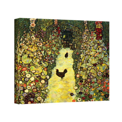 Brushstone Avenue in the Park Gallery Wrapped Canvas Wall Art
