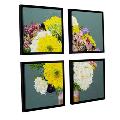 Brushstone Beautiful Day 4-pc. Square Floater Framed Canvas