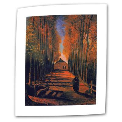 Brushstone Avenue of Poplars in Autumn Canvas WallArt