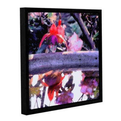 Brushstone Birdbath Gallery Wrapped Floater-FramedCanvas Wall Art
