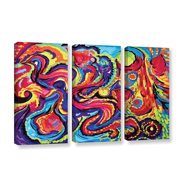 Brushstone Birth 3-pc. Gallery Wrapped Canvas WallArt