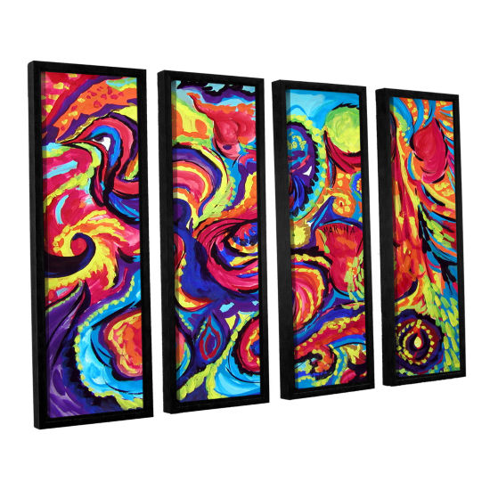 Brushstone Birth 4-pc. Floater Framed Canvas WallArt