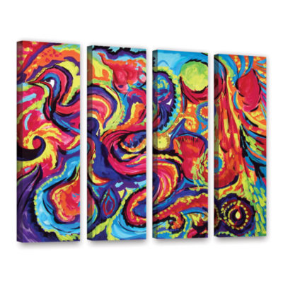 Brushstone Birth 4-pc. Gallery Wrapped Canvas Wall Art