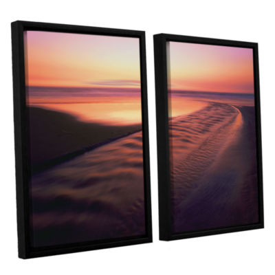 Brushstone Back to the Sea 2-pc. Floater Framed Canvas Wall Art - Vista