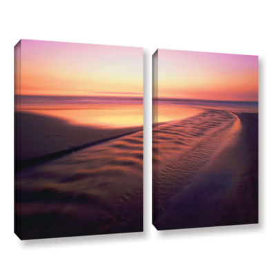 Brushstone Back to the Sea 2-pc. Gallery Wrapped Canvas Wall Art