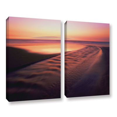 Brushstone Back to the Sea 2-pc. Gallery Wrapped Canvas Wall Art - Vista