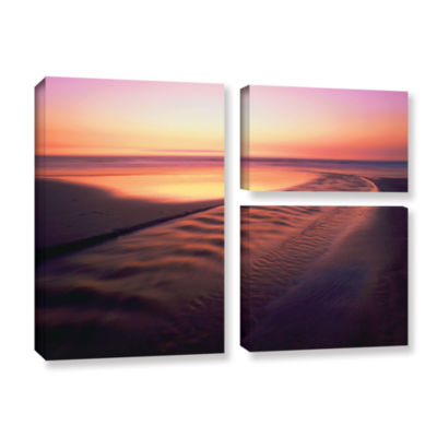 Brushstone Back to the Sea 3-pc. Flag Gallery Wrapped Canvas Wall Art