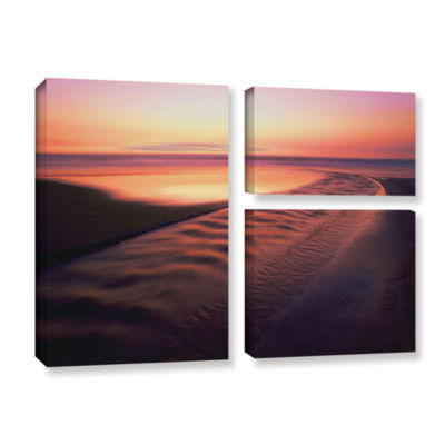 Brushstone Back to the Sea 3-pc. Flag Gallery Wrapped Canvas Wall Art - Vista