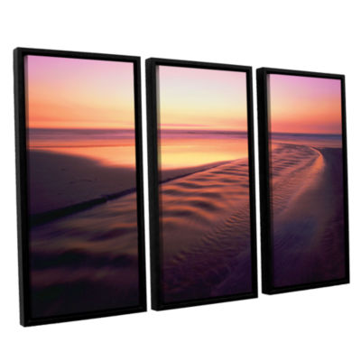 Brushstone Back to the Sea 3-pc. Floater Framed Canvas Wall Art