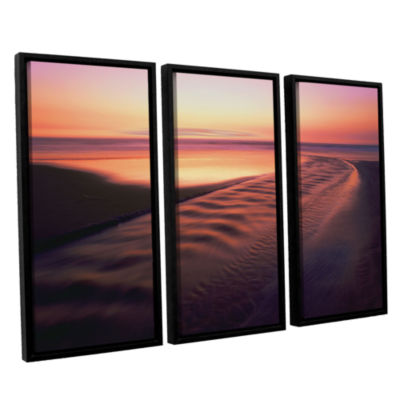 Brushstone Back to the Sea 3-pc. Floater Framed Canvas Wall Art - Vista