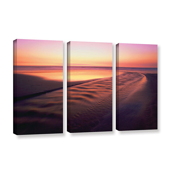 Brushstone Back to the Sea 3-pc. Gallery Wrapped Canvas Wall Art