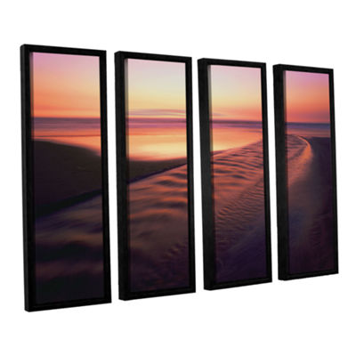 Brushstone Back to the Sea 4-pc. Floater Framed Canvas Wall Art - Vista