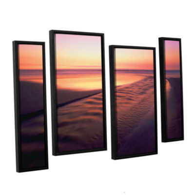 Brushstone Back to the Sea 4-pc. Floater Framed Staggered Canvas Wall Art