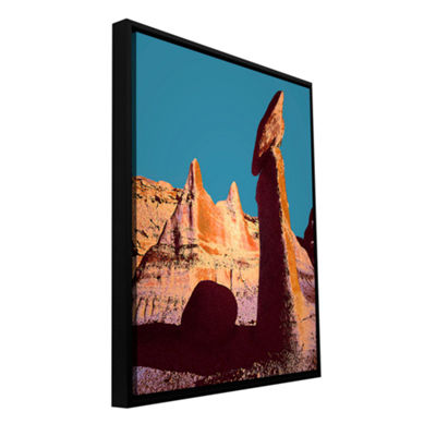 Brushstone Bisti Badland Gallery Wrapped Floater-Framed Canvas Wall Art