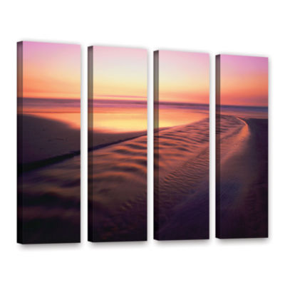 Brushstone Back to the Sea 4-pc. Gallery Wrapped Canvas Wall Art