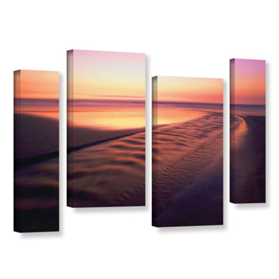 Brushstone Back to the Sea 4-pc. Gallery Wrapped Staggered Canvas Wall Art