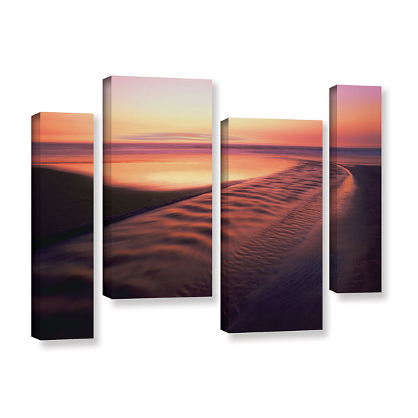 Brushstone Back to the Sea 4-pc. Gallery Wrapped Staggered Canvas Wall Art - Vista