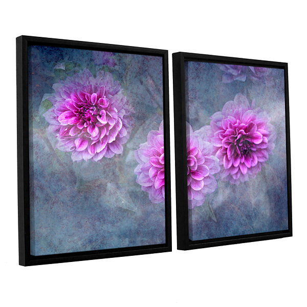 Brushstone Beauty in Violet 2-pc. Floater Framed Canvas Wall Art