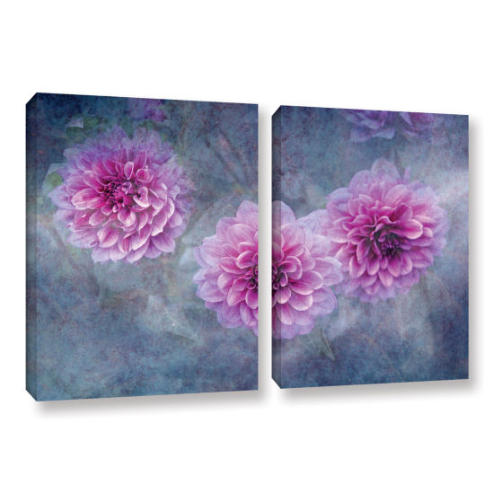 Brushstone Beauty in Violet 2-pc. Gallery WrappedCanvas Wall Art