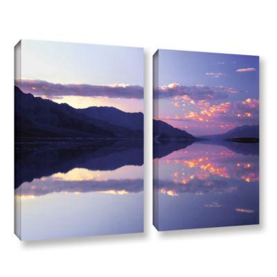 Brushstone Bad Water Sunset 2-pc. Gallery WrappedCanvas Wall Art