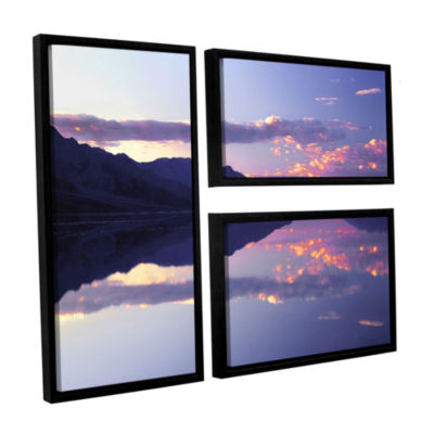 Brushstone Bad Water Sunset 3-pc. Flag Floater Framed Canvas Wall Art